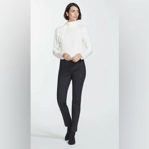 lafayette 148 bleecker mid rise cotton straight